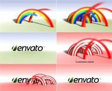 七彩虹logo演绎模板