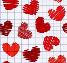手绘涂鸦爱心红心