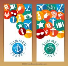 创意夏日旅游矢量图