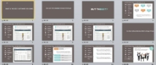 平板风格PPT展示模板