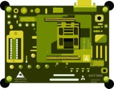 电子板电路板矢量素材