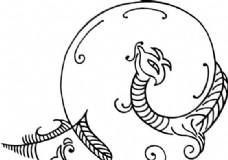 凤凰 凤纹图案 鸟类装饰图案 矢量素材 CDR格式_0072