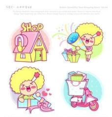 漫画儿童 卡通儿童 矢量 AI格式_0864