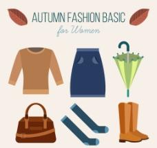 秋天的衣服和配件