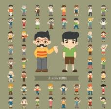 七套可爱的卡通人物形象图片