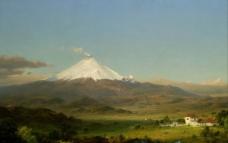 平原风景油画图片