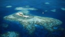 蓝色的岛礁