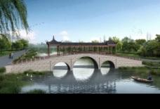 平顶廊桥图片