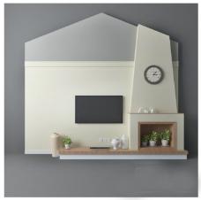 创意异型电视墙