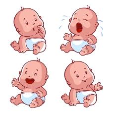 4款可爱婴儿