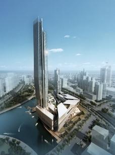 金融大厦效果图图片