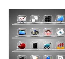 透明玻璃效果UI图片