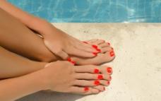 夏季脚美甲图片