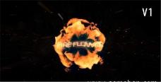 火焰燃烧爆炸logo展示模板