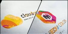 粉笔铅笔素描绘画Logo标志展示