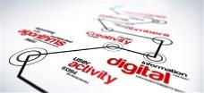 未来主义延伸线路Logo标志动画