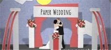 贺卡折纸婚礼开幕视频模板
