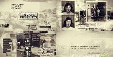 复古历史的照片纪录片模板