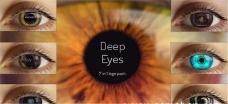 7种深邃的眼睛眼珠眼球动画模板