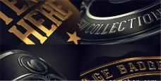 复古徽章细节展示动画AE模板