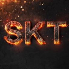 skt岩浆火焰字体
