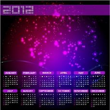 2012新年日历模板