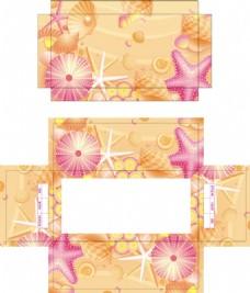 海星贝壳珍珠鞋盒包装设计