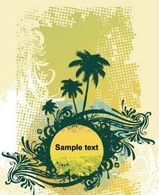 椰子树 平面模板 矢量 EPS_0007