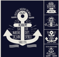 创意船锚标签图片