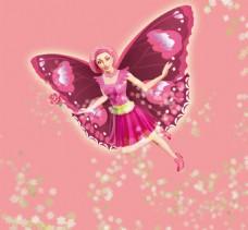 动漫芭比公主之魔法花仙子png高清图片