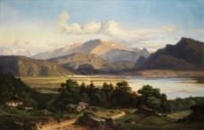 山野风景油画图片