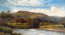 山林风景油画图片