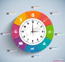 彩色时钟图表图片