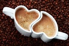 咖啡 心形杯子  壁纸 网站背景图片