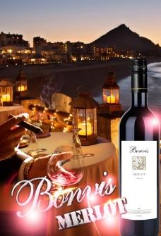 葡萄酒 海报图片