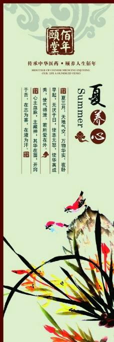 中国风养生挂图图片