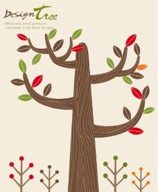 卡通树 雕刻树图片