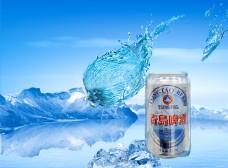 创意啤酒广告PSD分层素材