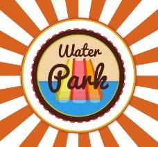 创意水上乐园海报矢量素材