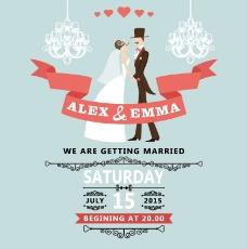 浪漫婚礼海报设计矢量素材