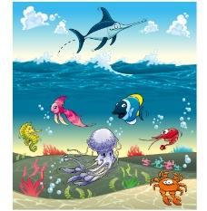 海底卡通鱼