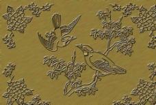 浮雕鸟画图片
