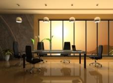 公司会议室场景图片