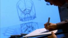 工程师绘制图纸实拍视频素材