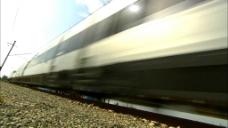 高速火车高清实拍视频素材
