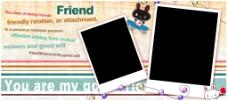 兔子好朋友照片卡片模版