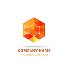 创意几何橙色标志