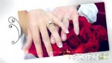生长花纹婚礼照片展示模板