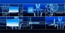 医疗人体透视包装动画展示模板