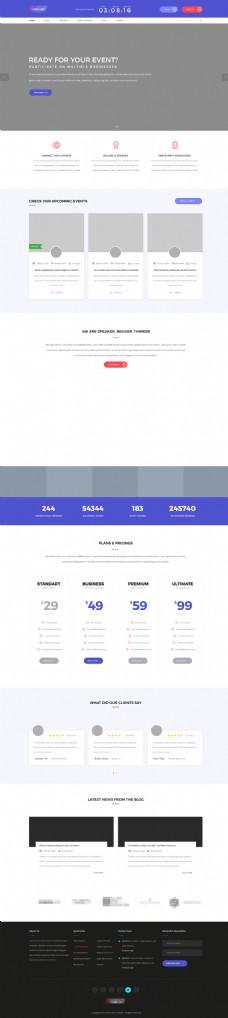 国外精美大气的购物商城网站模板首页界面